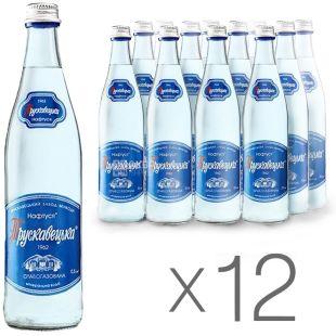 Трускавецька, упаковка 12 шт. по 0,5 л, слабогазована вода, Нафтуся, скло