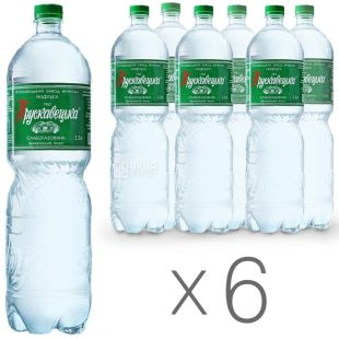 Трускавецька, упаковка 6 шт. по 1,5 л, слабогазована вода, Нафтуся, ПЕТ