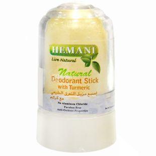 Hemani, 75 мл, дезодорант сольовий, Натуральний, ПЕТ