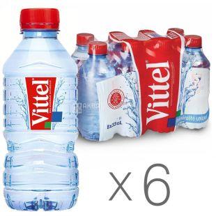 Vittel, упаковка 6 шт. по 0,33 л, негазированная вода, ПЭТ