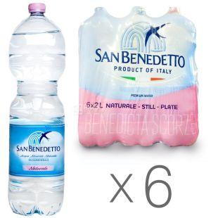 San Benedetto, упаковка 6 шт. по 2 л, вода негазированная, ПЭТ