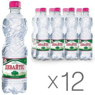 Девайтіс, Упаковка 12 шт. по 0,5 л, Вода слабогазована, Мінеральна, ПЕТ