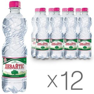 Devaytis, Packing 12 pcs. 0.5 l each, Low Carbonated Water, Mineral, PET, PAT