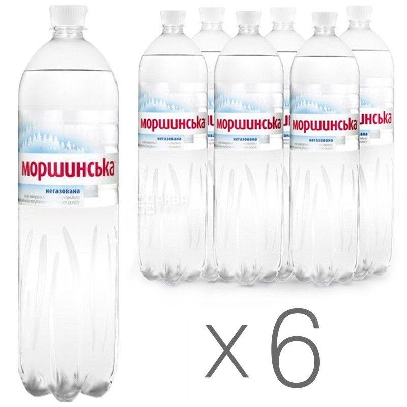 Моршинская, Упаковка 6 шт. по 1,5 л, Вода негазированная, ПЭТ