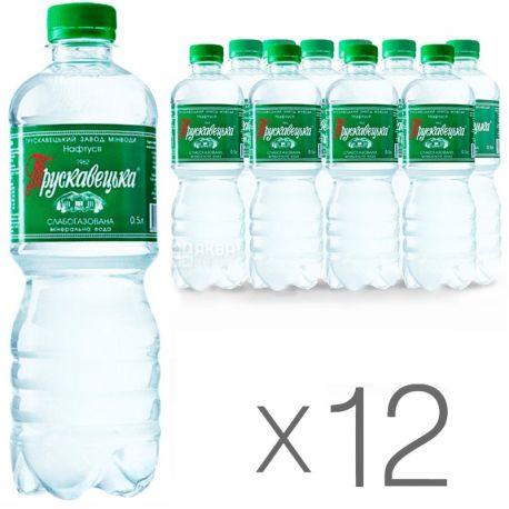 Трускавецкая Нафтуся, 0,5 л, Упаковка 12 шт., Вода слабогазированная, ПЭТ