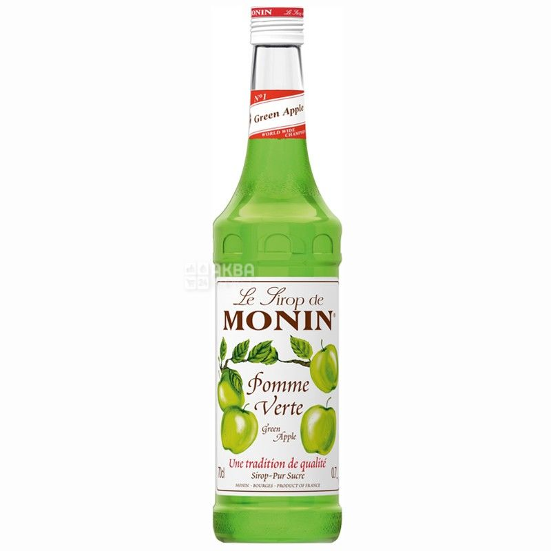 Monin, Green apple, 0,7 л, Сироп Монин, Зеленое яблоко, стекло
