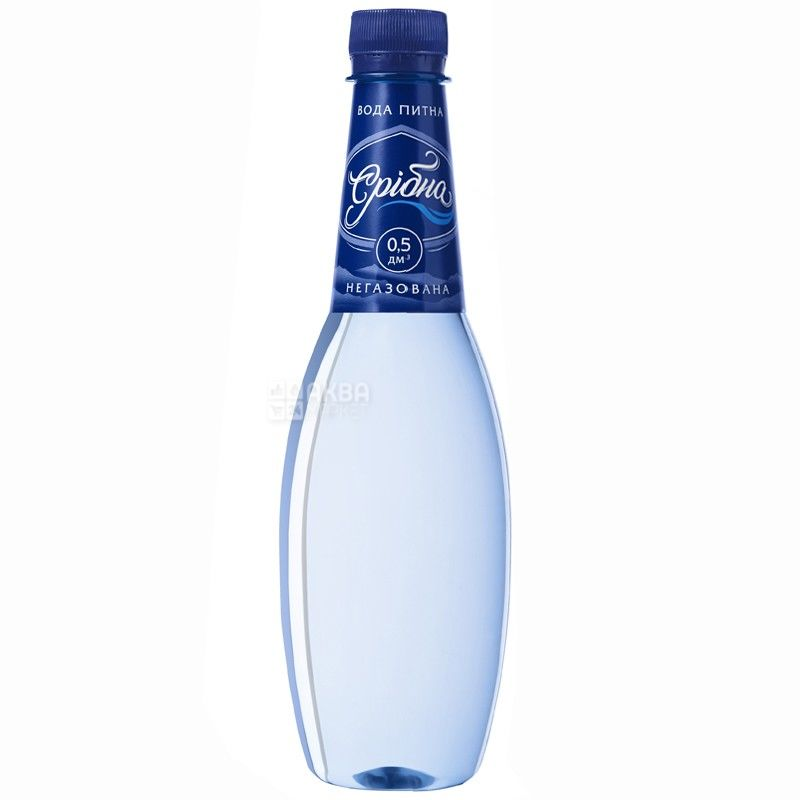 Срібна, 0,5 л, вода питьевая, Негазированная, ПЭТ