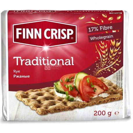 Finn Crisp, 200 г, хлібці житні, Традиційні, м/у
