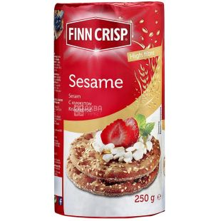 Finn Crisp, 250 g, rye bread, Round wheat, With sesame, m / y