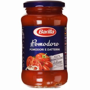 Barilla, 400 г, соус томатный, Pomodoro, С добавлением лука, стекло