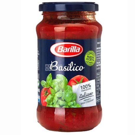 Barilla, 400 г, соус томатный, Basilico, С базиликом, стекло