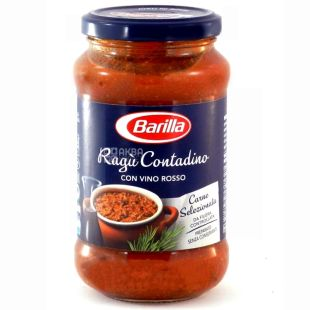 Barilla Ragu Contadino, 400 g, glass, sauce for pasta with dry red wine