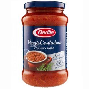 Barilla Ragu Contadino, 400 г, стекло, соус для пасты с красным сухим вином
