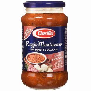 Barilla, 400 г, соус томатний, Ragu Montanaro, З грибами, скло