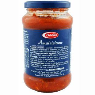 Barilla Amatriciana, 400 г, соус томатный, с беконом, стекло