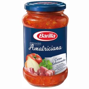 Barilla Amatriciana, 400 g, tomato sauce, with bacon, glass
