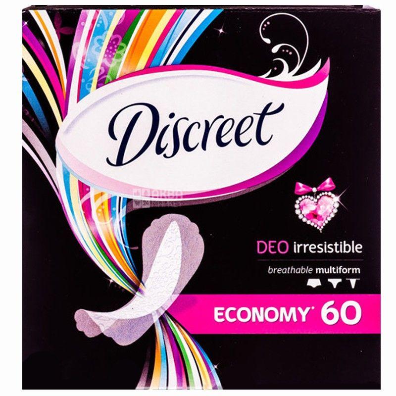 Discreet, 60 шт., прокладки, Deo Irresistible Multiform, Ежедневные