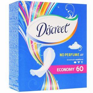 Discreet, 60 шт., прокладки, Air No Perfume, Щоденні