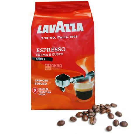 Lavazza, Crema e Gusto Forte, 1 кг, Кофе Лавацца, Крема э Густо Форте, темной обжарки, в зернах