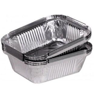Foil container, 100 pcs., 144x119x40 mm, 430 ml