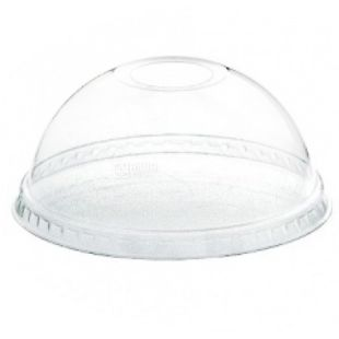 Glass plastic With a dome cover Transparent 500 ml, 50 pcs.