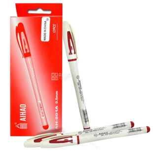 AIHAO, 12 pcs., 0.5 mm, gel pen, Red