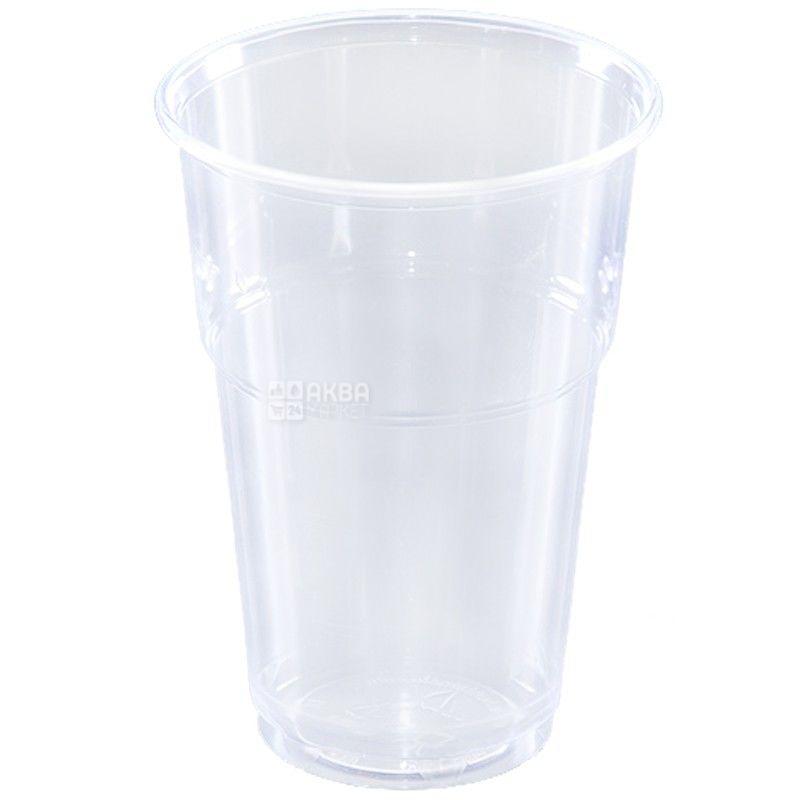 Стакан пластиковий, 50 шт., 400 мл