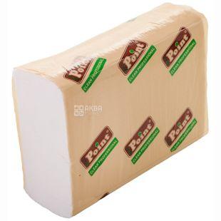 Mirus, Eco Point, 200 листов, Бумажные полотенца Мирус, 2-х слойные, ZZ-сложения,  белые, 23 х 22 см