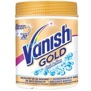 Vanish, 470 г, порошок пятновыводитель, Oxi Action Gold, Для белых тканей, ПЭТ