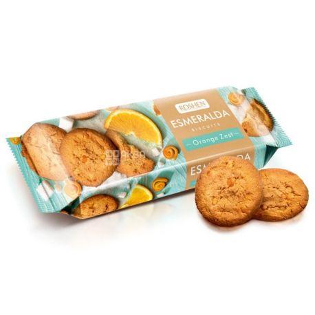 Roshen, 150 г, печенье, С кусочками апельсина, Esmeralda