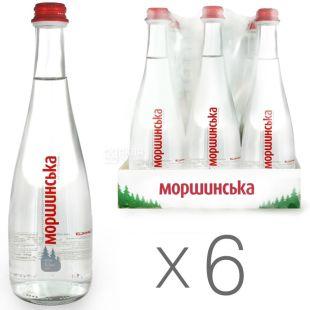 Morshynska, Packing 6 pcs. 0.5 l each, Non-carbonated water, Premium, glass, glass