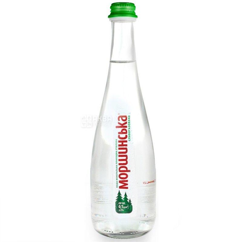 Моршинская, Упаковка 6 шт. по 0,5 л, Вода слабогазированная, Premium, cтекло