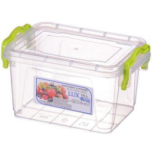 LUX, Контейнер пластиковый №2, 0,8 л, 162х112х93 мм