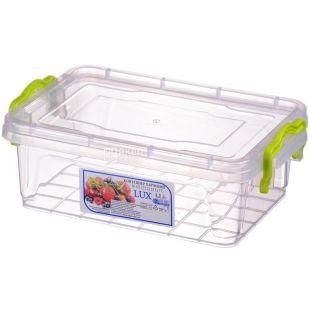 LUX, Контейнер пищевой №3, Пластиковый, 212х141х77мм, 1,2 л