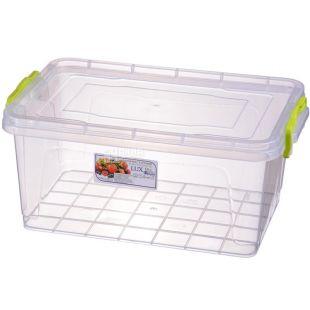 LUX, Контейнер пищевой №6, Пластиковый, 310х205х138мм, 5 л