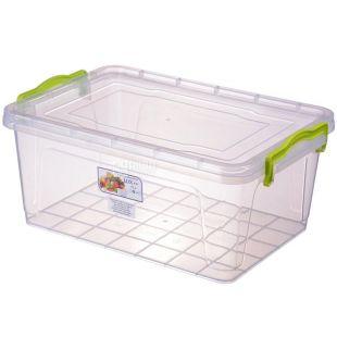 LUX, Контейнер харчовий №7, Пластиковий, 375х255х166мм, 9,5 л