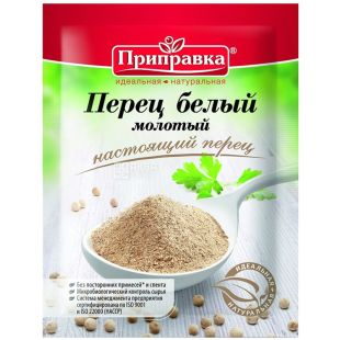 Seasoning, 15 g, white pepper, Ground