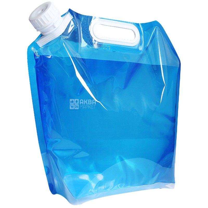 Пакет для налива воды, 10 л, С ручкой, гибкий ПЭТ
