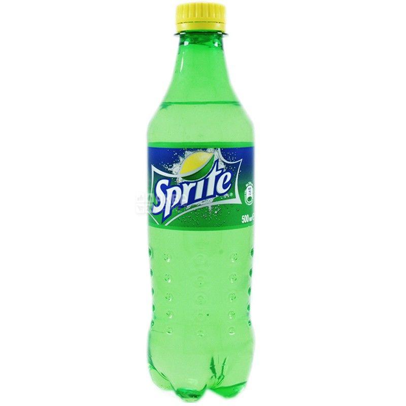 Sprite, 0,5 л, Спрайт, Вода сладкая, со вкусом лайма и лимона, ПЭТ
