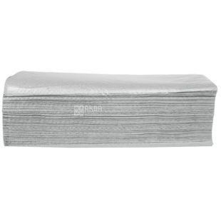 Велс, 160 шт., бумажные полотенца, V-сложения, Однослойные, Серые, м/у