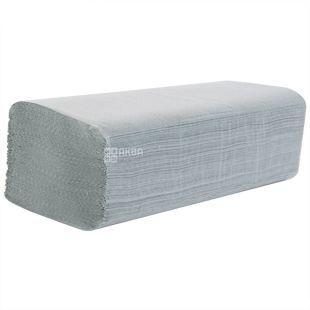 Wels, 160 pcs, paper towels, V-folds, Single-layer, Gray, m / s