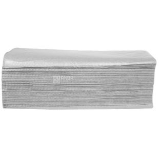 Велс, 200 шт., паперові рушники, Складені V, Одношарові, Сірі, м/у