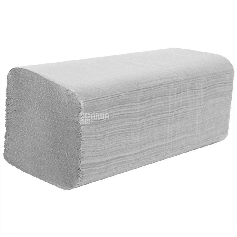 Велс, 200 шт., бумажные полотенца, V-сложения, Однослойные, Серые, м/у