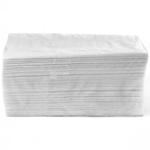Велс, 150 шт., паперові рушники, Складені V, Двошарові, Білі, м/у