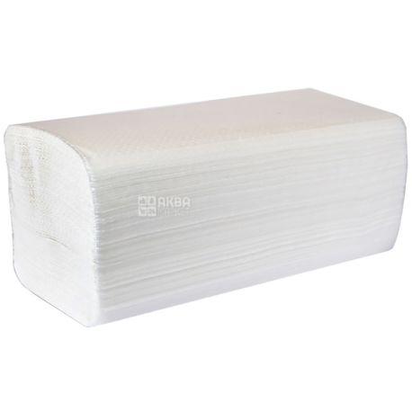 Велс, 150 шт., бумажные полотенца, V-сложения, Двуслойные, Белые, м/у