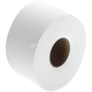 Wels, 100 m, toilet paper, Jumbo, Double layer, White, m / y