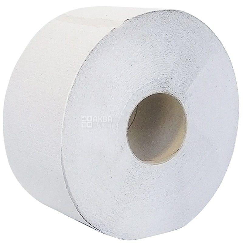 Wellis, 120 м, Туалетний папір Велс, Джамбо, 2-х шаровий, сіра