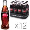 Coca-Cola Zero, упаковка 12 шт. по 0,25 л, сладкая вода, стекло