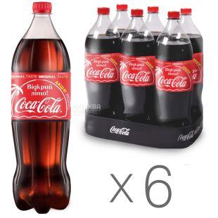 Coca-Cola, Упаковка 6 шт. по 1,5 л, Кока-Кола, Вода сладкая, ПЭТ