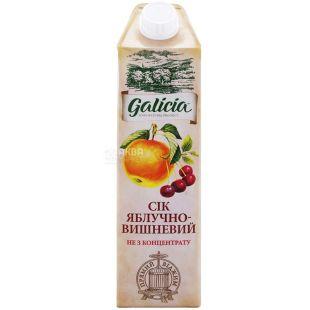 Galicia, Яблучно-вишневий, Упаковка 12 шт. по 1 л, Галіція, Сік натуральний, без додавання цукру
